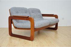 Mid Century Vintage Danish 2 Seater Grey Sofa | Vinterior   #midcentury #modern #20thcentury
