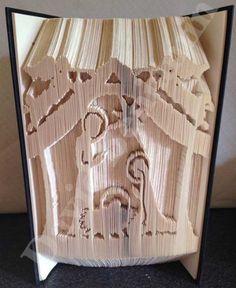 Nativity Scene Combi Cut and Fold Book Folding Pattern