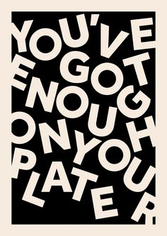 typography | encouragement