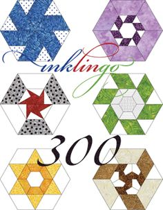 Love that this is available for me to use. Imagine 300 Pieced Hexagons...300.