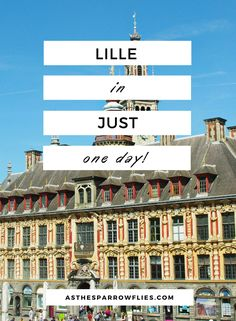 Lille In One Day | Day Trip To Lille | Lille on Eurostar | European City Break | Visit France via @SamRSparrow