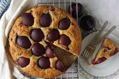 Raspberry & Plum Yogurt Cake from @Sarah #recipe #oliveoil #plums