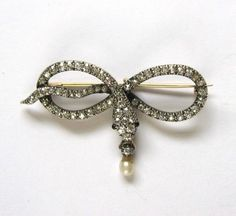 victorian snake pin