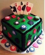 #Casino I #Poker themed #cake ideas