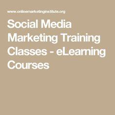 Social Media Marketing Training Classes - eLearning Courses