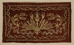 antique ottoman turkish yastik • gold thread on silk velvet