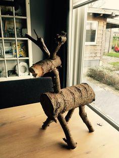 Kerst Hert hout DIY