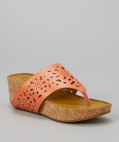 Look what I found on #zulily! Coral Maple Platform Sandal #zulilyfinds