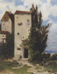 Landschaft in Südtirol (?) by Robert Alott