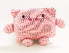 Loom Knit Pig- Martha Stewart for Lion Brand Yarn