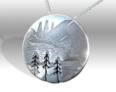 Three Sisters Pendant, Silver Pendant, Silver Jewellery, mountain jewellery.