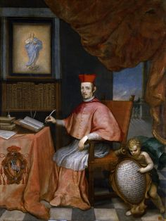 Portrait of Cardinal Juan Everardo Nithard, by Alonso del Arco (c. 1674).Prado Museum (Madrid).(8.12.1607-Rome,1.02.1681)an Austrian priest of the Society of Jesus, confessor of Mariana of Austria,cardinal and valido of Spain.