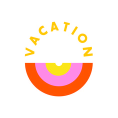 Vacation! (Retro color palette and font)