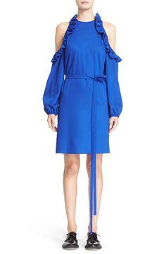 Cold Shoulder Fit & Flare Dress