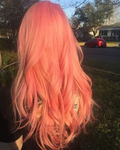 Grace Fantasy Hair : Grace Fantasy Natural Pink Wigs Lace Front Replacement Wigs Long Straight Wavy Heat Resistant Synthetic Hair Wig for Women Natural Hairline Peachy Pink Hair, Pastel Pink Hair, Long Pink Hair, Pink And Orange Hair, Short Hair, Lilac Hair, Peach Orange, Blue Hair, Hair Inspo