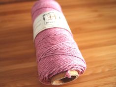 Hemp Cord - Light Pink - #20 20lb / 1mm cord Hemptique - Five (5) Metres -   Jewellery Making Stringing Knotting Cord Thong  by LoveEllieBagMaking Find it now at http://ift.tt/2dDbZPs!