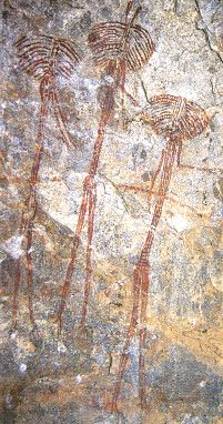 Paleolithic human figure images from Tanzania