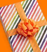 Rainbow Stripe Gift Wrap