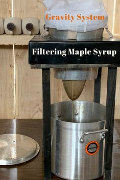 Steps we take on how to filter maple syrup. Small Sugarmakers use a Gravity System when filtering maple syrup. This is performed with filters and gravity! Maple Syrup Tree, Tapping Maple Trees, Farming Ideas, Sugaring, Mini Farm, Backyard Farming, Country Farm, The Good Old Days, Double Tap