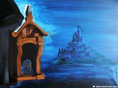 Toile en cours : Raiponce (gif animé ;))  #Disney #Tangled #Painting #Art #Peinture #Wip #WorkInProgress