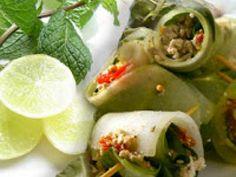 Receita Aperitivo : Aperitivo de pepino (vegana) de Cantinho Vegetariano