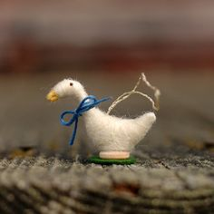 SHIPS 12/14 Needle Felted Goose Christmas by BossysFeltworks, $12.00