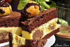 Tort Profiterol Romanian Desserts, Something Sweet, Cheesecakes, Cake Pops, Nutella, Fondant, Cake Recipes, Bakery, Sweet Treats