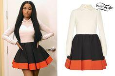 Nicki Minaj: Colorblock Pleated Dress