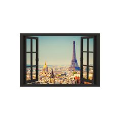 View From A Paris Window Poster ($9.99) ❤ liked on Polyvore featuring home, home decor, wall art, paris home decor, window poster, paris wall art, parisian home decor and paris poster
