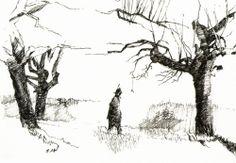 Draw people in a landscape