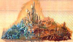 "the-disney-elite: ""Suzanne Braniff Rattigan's concept art for the Mermaid Lagoon at Tokyo DisneySea. Tokyo Disney Sea, Tokyo Disney Resort, Tokyo Disneyland, Disney Rides, Disney Parks, Walt Disney Imagineering, Mermaid Lagoon, Disney Artwork, Disney Concept Art"