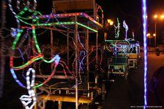 Carts with neon on its body. Rented on Alun-Alun Yogya.