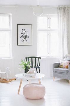 a scandinavian home with feminine touches