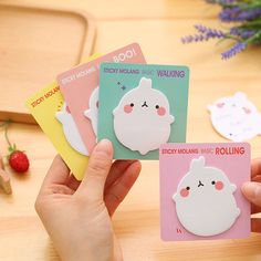 1 x cute molang rabbit memo pad paper sticky notes post it notepad kawaii stationery papeleria school supplies