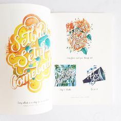 Earlier this year, I was contacted by a publisher from Japan. They were in the middle of creating a book about decorative lettering. The book showcases lettering works of artists around the world. So lucky to be included in the list. Here's a shot of my spread feature, there's another one after this page. Didn't know I'm getting two. Hoorayyy! 😅🎉 #lettering #watercolor #book