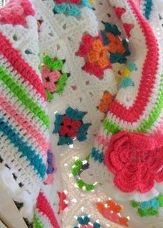 Crochet granny square blanket by Lucinda Marie Martinez