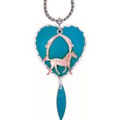Horse Blue Patina Necklace