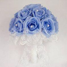 Wedding Bouquet Blue Roses