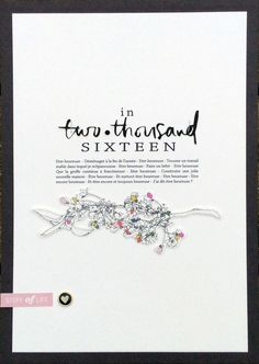 two thousand and sixteen by Mana1 at @studio_calico