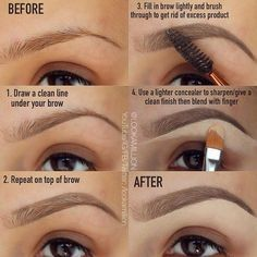 How To Draw On Eyebrows Makeup Pinterest Makeup Eyebrow