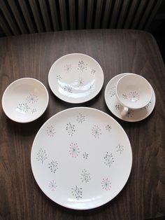 franciscan echo dinnerware set of 8 by oomimmi on Etsy,