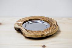 ashtray made of olive wood