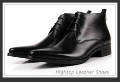 Free shipping new 2014 men's genuine boots,fashion full grain leather,black/yellow,lace-up,pointed toe,38-44 $468.75