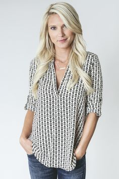 This top could be worn casual or dressed up for work