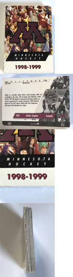 College Cards 133072: 1998-1999 Minnesota Golden Gophers Men S Hockey Team Card Set Factory Sealed -> BUY IT NOW ONLY: $95 on eBay!