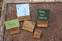 5 Reclaimed Wood Trim Place Card Holder Made to by dandyloveco, $6.00
