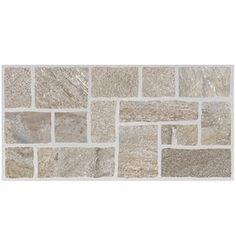 Style Selections Nutrasand Tusk Glazed Porcelain Indoor/Outdoor Floor Tile (Common: 12-in x 24-in; Actual: 11.79-in x 23.7-in)