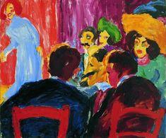 Emil Nolde (1867-1956)  Spectators at the Cabaret, 1911