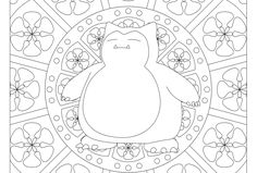 Free printable Pokemon coloring page-Snorlax. Visit our page for more coloring! Coloring fun for all ages, adults and children. Pusheen Coloring Pages, Manga Coloring Book, Pokemon Coloring Pages, Cute Coloring Pages, Coloring Pages To Print, Printable Coloring Pages, Coloring Sheets, Free Coloring, Coloring Books
