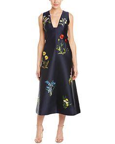 Rue La La — Stella McCartney Kaitlyn Silk-Blend A-Line Midi Dress